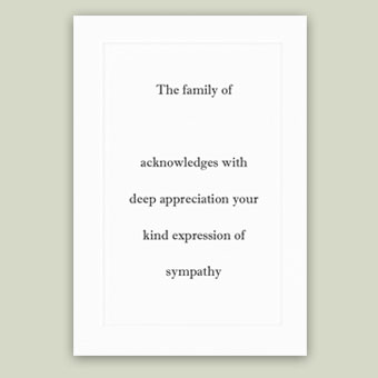 Personalized Acknowledgement Cards